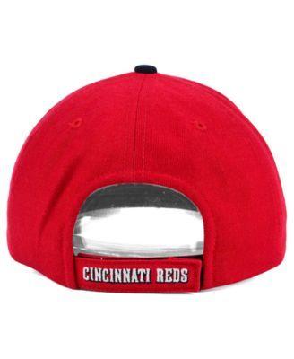 '47 Brand Cincinnati Reds Mvp Curved Cap - Red/Black Adjustable