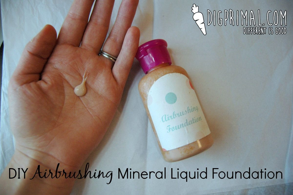 DIY Airbrushing Mineral Liquid Foundation Diy makeup