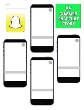 Back to School Snapchat Summer Story Project   First days of