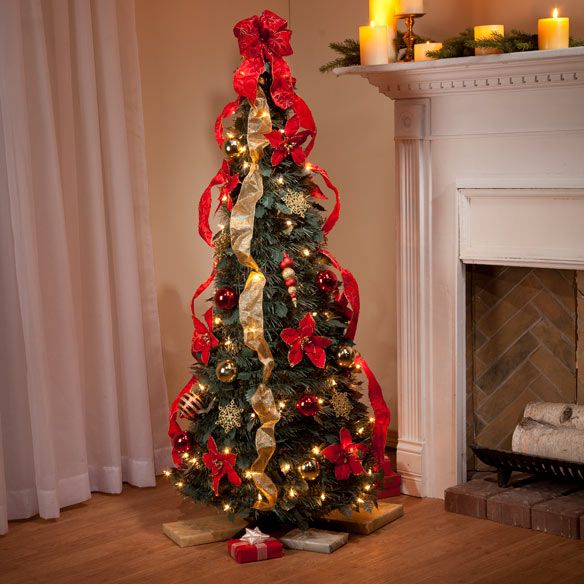4 ft pull up fully decorated tree - Pull Up Fully Decorated Christmas Tree
