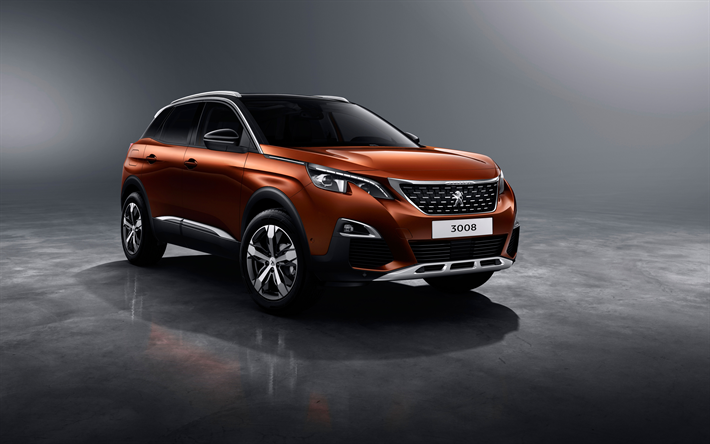Download wallpapers Peugeot 3008, 4k, 2018 cars, crossovers, brown ...