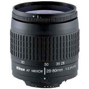 Nikon 28 80mm F 3 3 5 6g Autofocus Nikkor Zoom Lens Black Zoom Lens Autofocus Lens