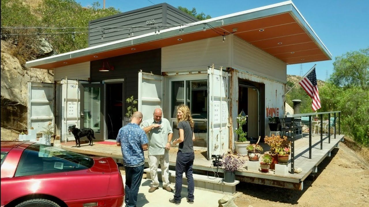 House Of 3 Containers On San Diego Hill Blends With Landscape Youtube In 2020 Building A Container Home Container House Cool Roof