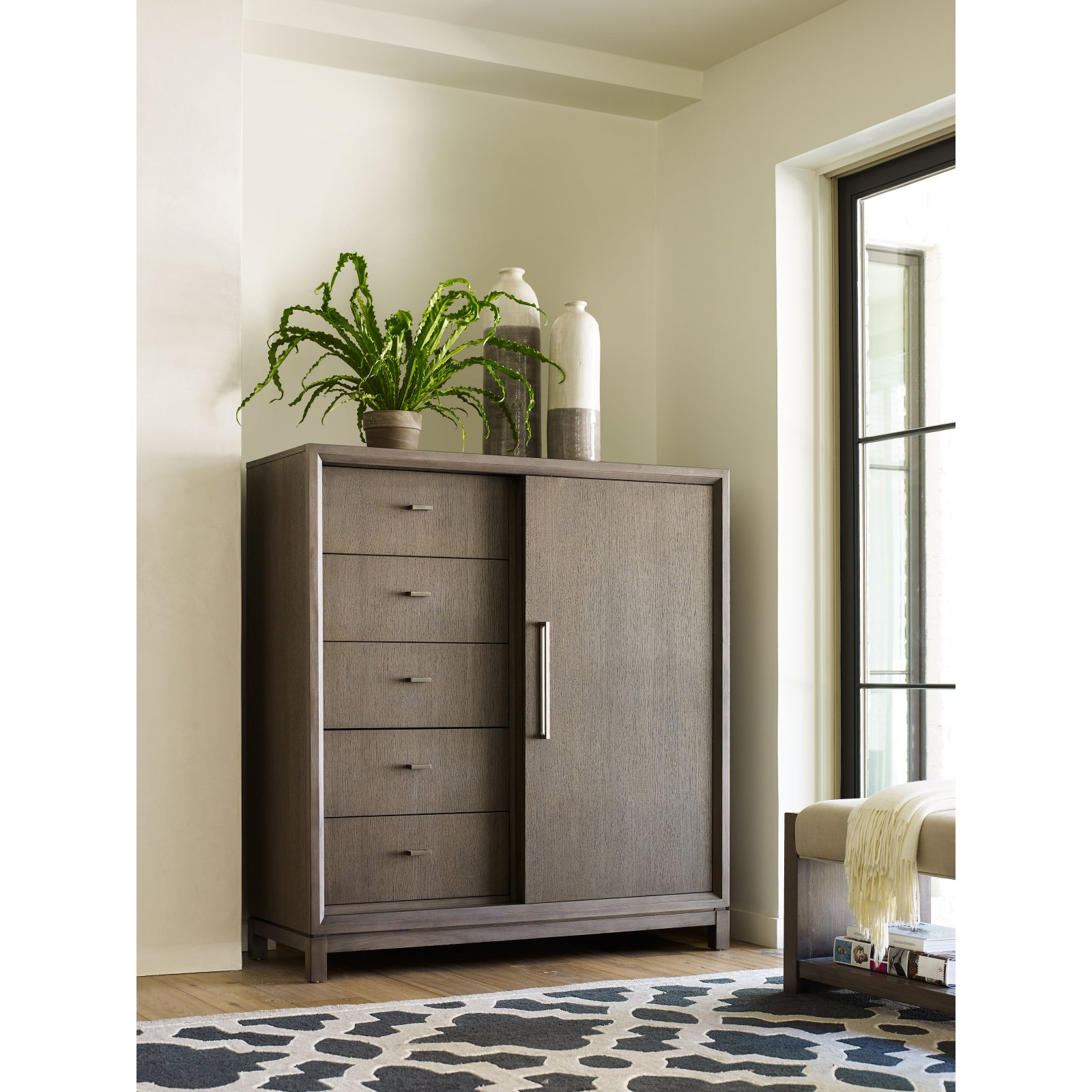 Rachael Ray Highline 5 Drawer Sliding Door Chest With Wine Rack Sliding Doors Interior Legacy Classic Furniture Doors Interior