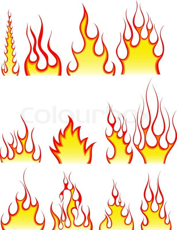 Drawings Fire Flames | Stock vector of 'drawings, fire, flame ...