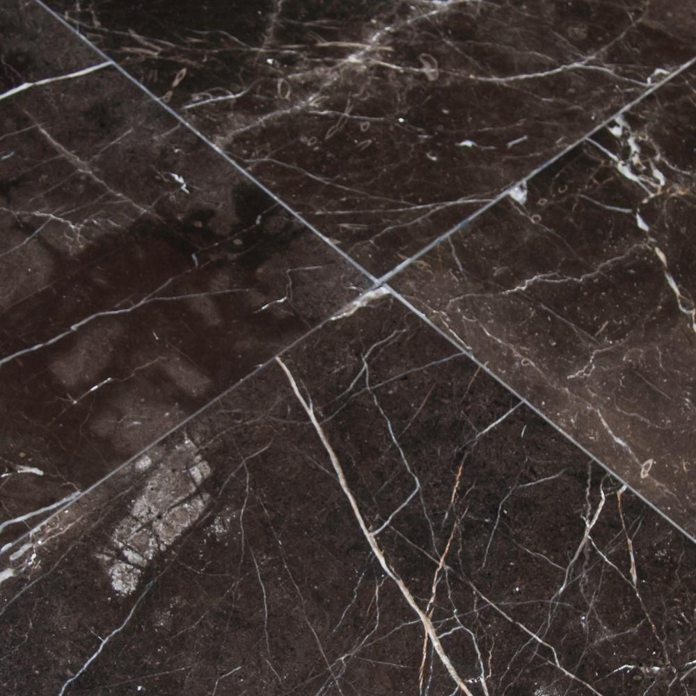 Msi Frontier Brown 12 In X 12 In Polished Marble Floor And Wall Tile 5 Sq Ft Case Tfrnbrn1212 The Home Depot In 2020 Marble Floor Flooring Floor And Wall Tile