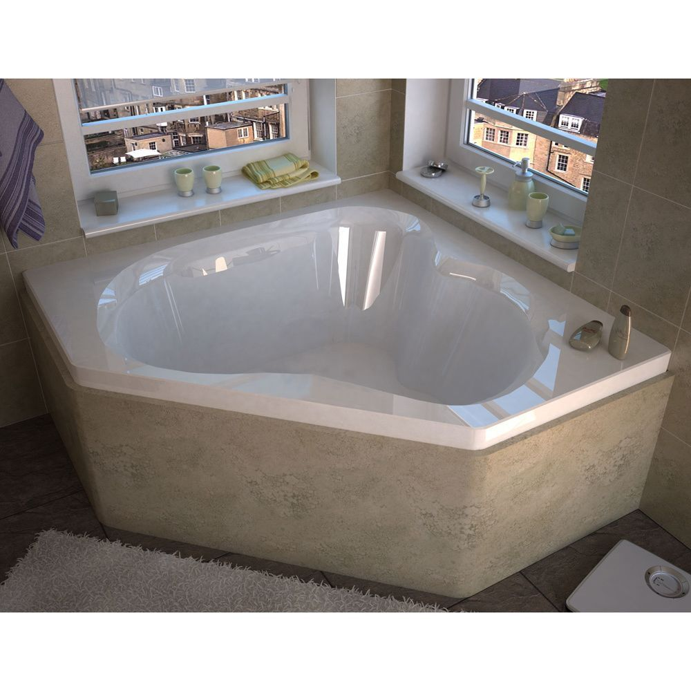 Mountain Home Andes 60 in. x 60 in. Acrylic Soaking Drop-in Bathtub ...