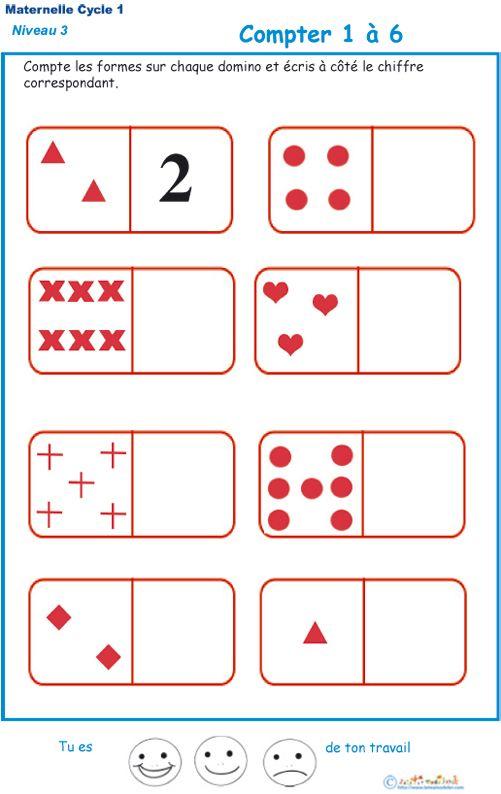 Imprimer l'exercice 1 sur les dominos. Maternelle GS ...