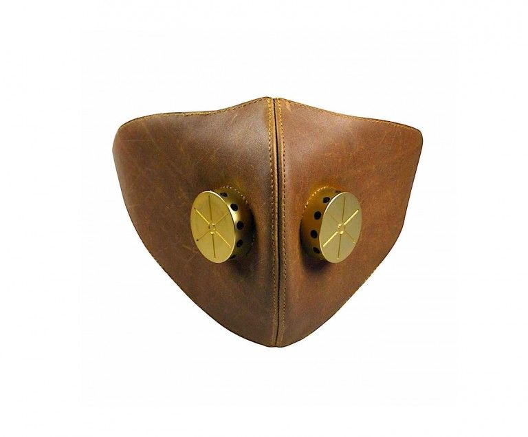 Hedon Hannibal leather face mask