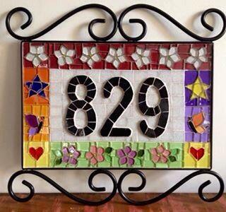 Nunber, numero , mosaic