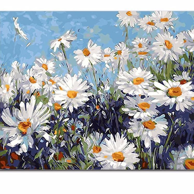 DAISIES FIELD CANVAS WALL ART PICTURES PRINTS LARGER SIZES AVAILABLE
