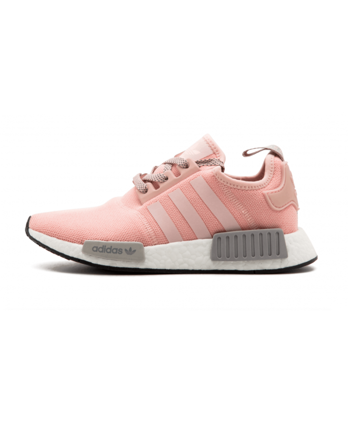 1973c23dcf85c Adidas NMD R1 Pink Light Grey Trainer Pink with bright and bright features,  it is suitable for female friends to wear.