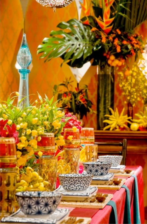 Sophisticated Moroccan Table DecorHenna Night Decoration  Kina Gecesi Masa  Dekorasyonu  Pink  Sparkle
