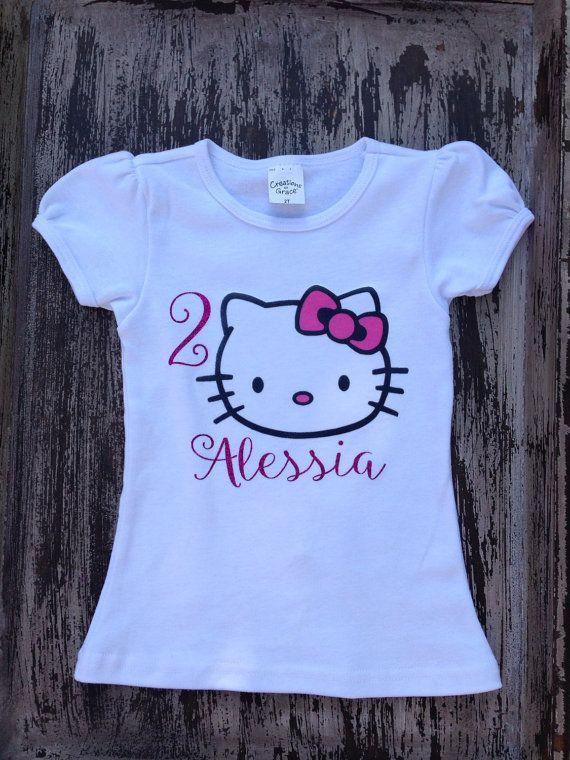 69991c2a8 Custom Hello Kitty Birthday Shirt | Halyn's 4th Birthday | Hello kitty  birthday, Birthday shirts, Hello kitty