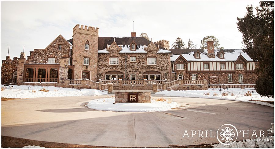 A Wide Angle Front View Of The Highlands Ranch Mansion In