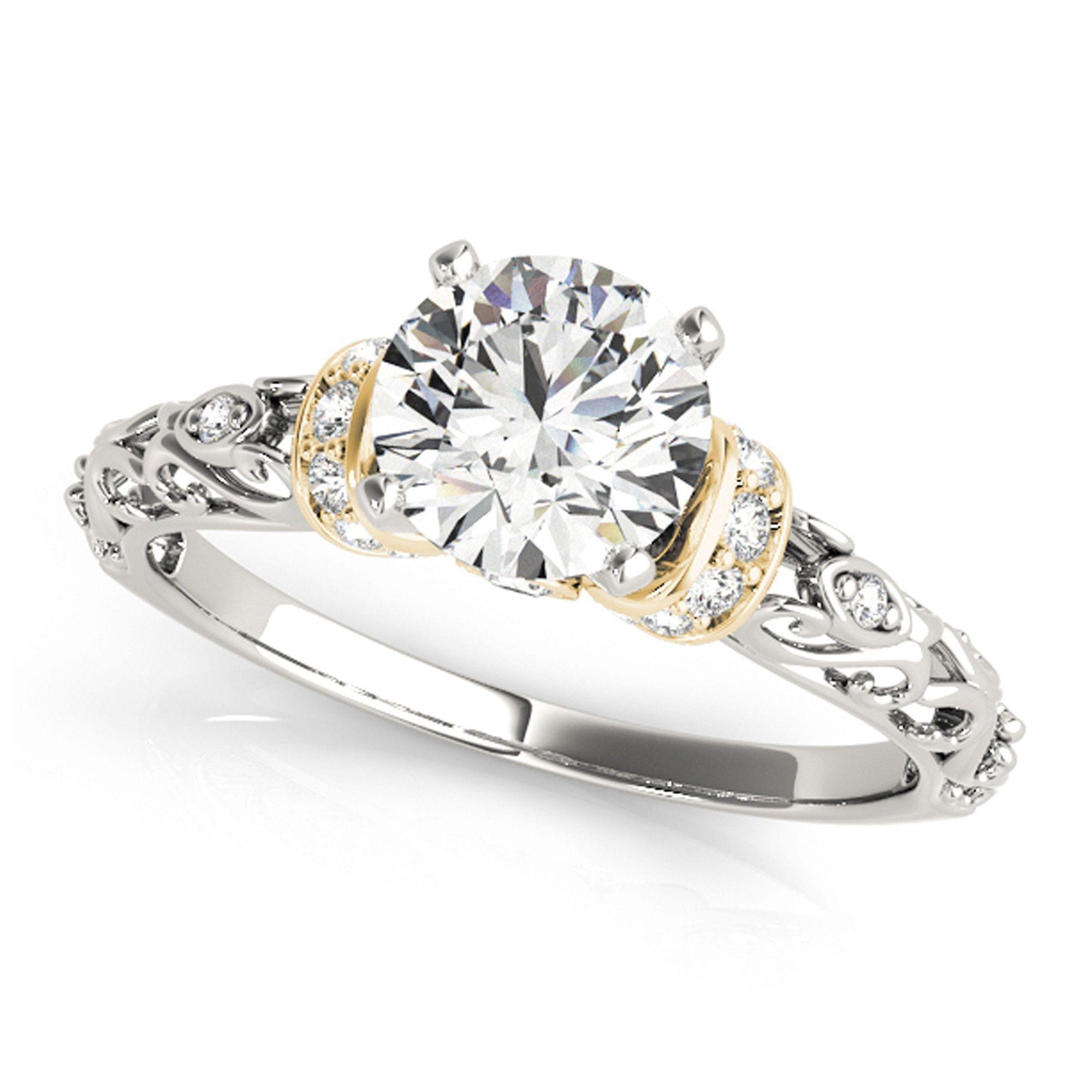 Transcendent brilliance k gold ct tdw diamond petite vintage