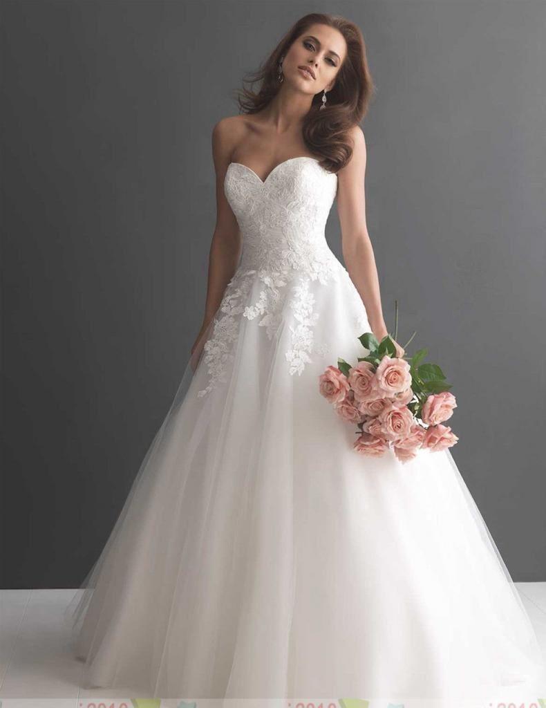 87e75b9ad2c robe de mariée romantique en tulle et dentelle
