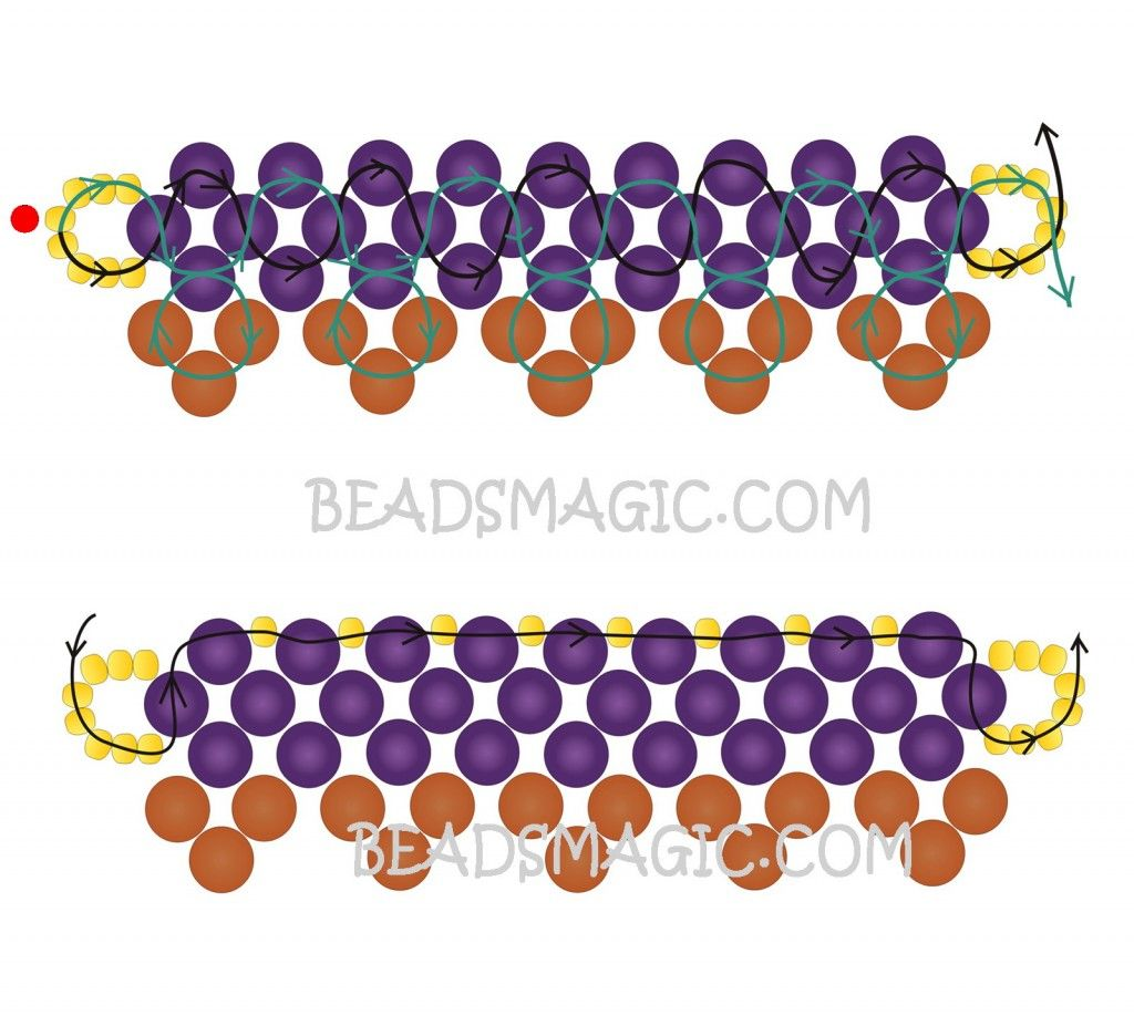 Free pattern for necklace Naomi | Beads Magic