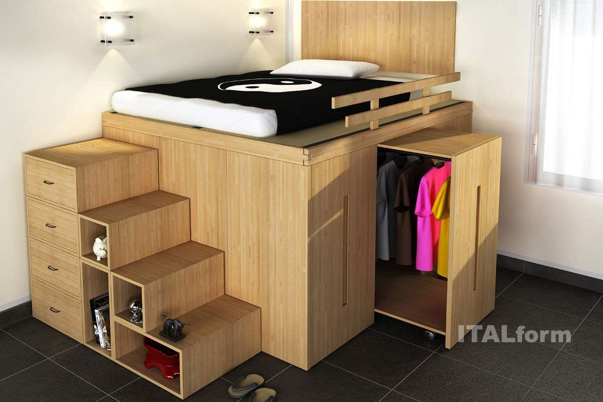 Smart Space Saving Beds For Bedroom Storage Design Ideas