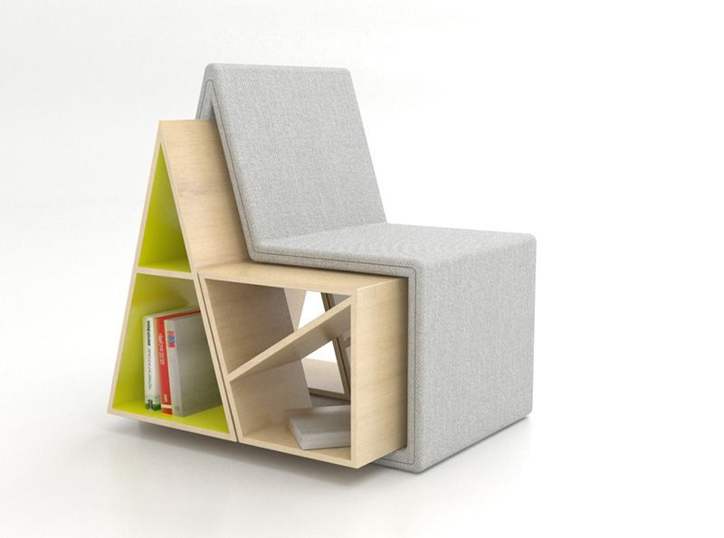 Young Italian Designer Andrea Mangano Has Created The Domus Chair. It Is A  Combination Of Reading Chair And Bookcase. In Designeru0027s Words,