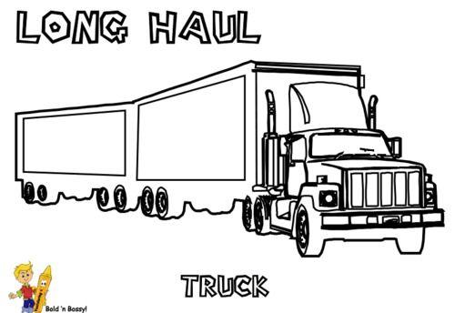 peterbilt semi truck coloring page drawing  peterbilt