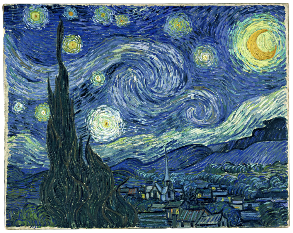 The Starry Night Painting Vincent Van Gogh 1889 The Painting Depicts The View Outside Gogh The Starry Night Starry Night Van Gogh Starry Night Painting