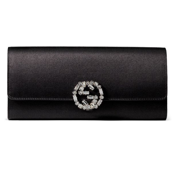 4433b791fd8 Gucci Broadway Satin Evening Clutch Bag ( 890) ❤ liked on Polyvore  featuring bags