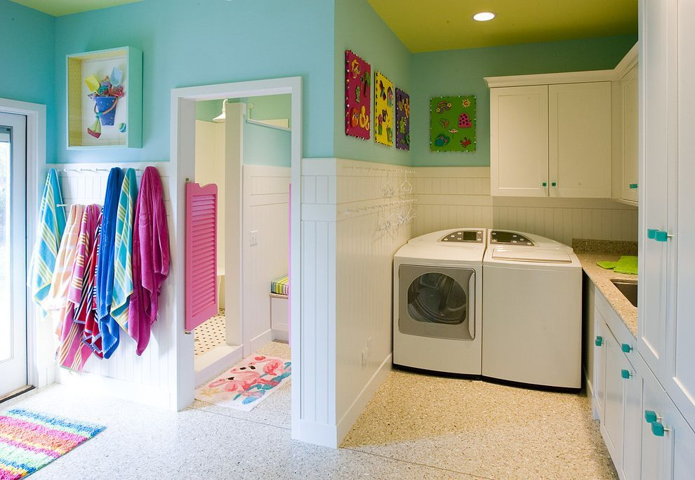 The Laundry Room Las Vegas Traditional Laundry Room Also Craft Room Gift Wrapping Center Home Office Kichler In 2020 White Wainscoting Laundry In Bathroom Storage Bins