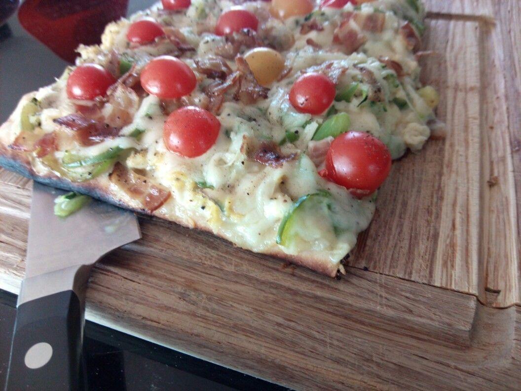 Pizza déjeuné fait sur BBQ #pizzadejeunée #bbq