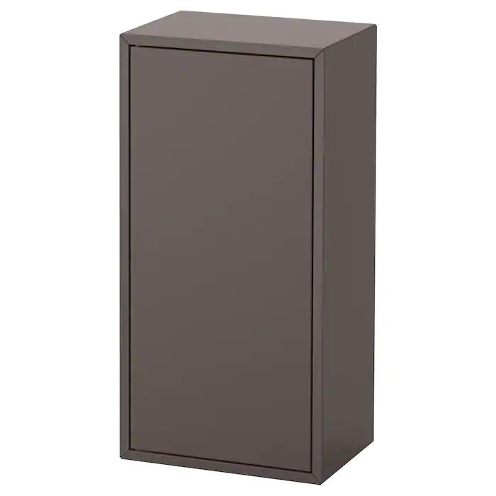 Eket Element 1 Porte Et 2 Tablettes Gris Fonce 35x25x70 Cm Rayonnage Mural Ikea Rangement Plus