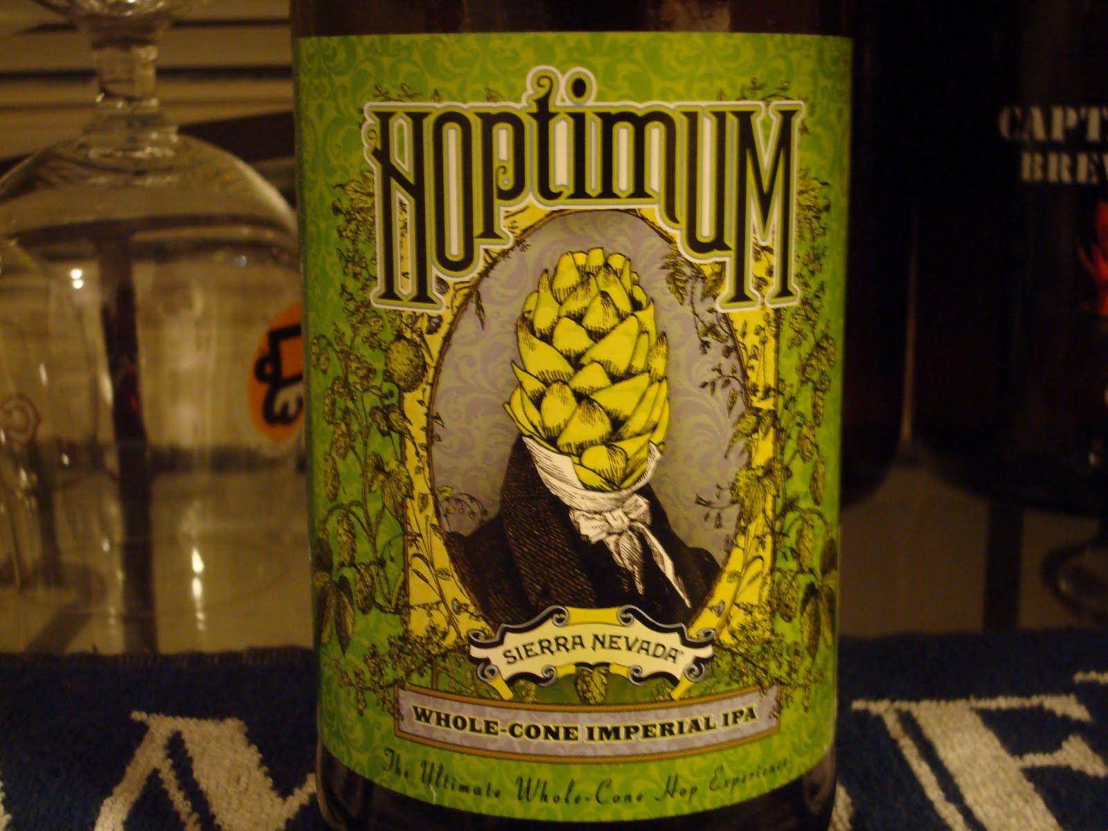 Hoptimum logo - beer label