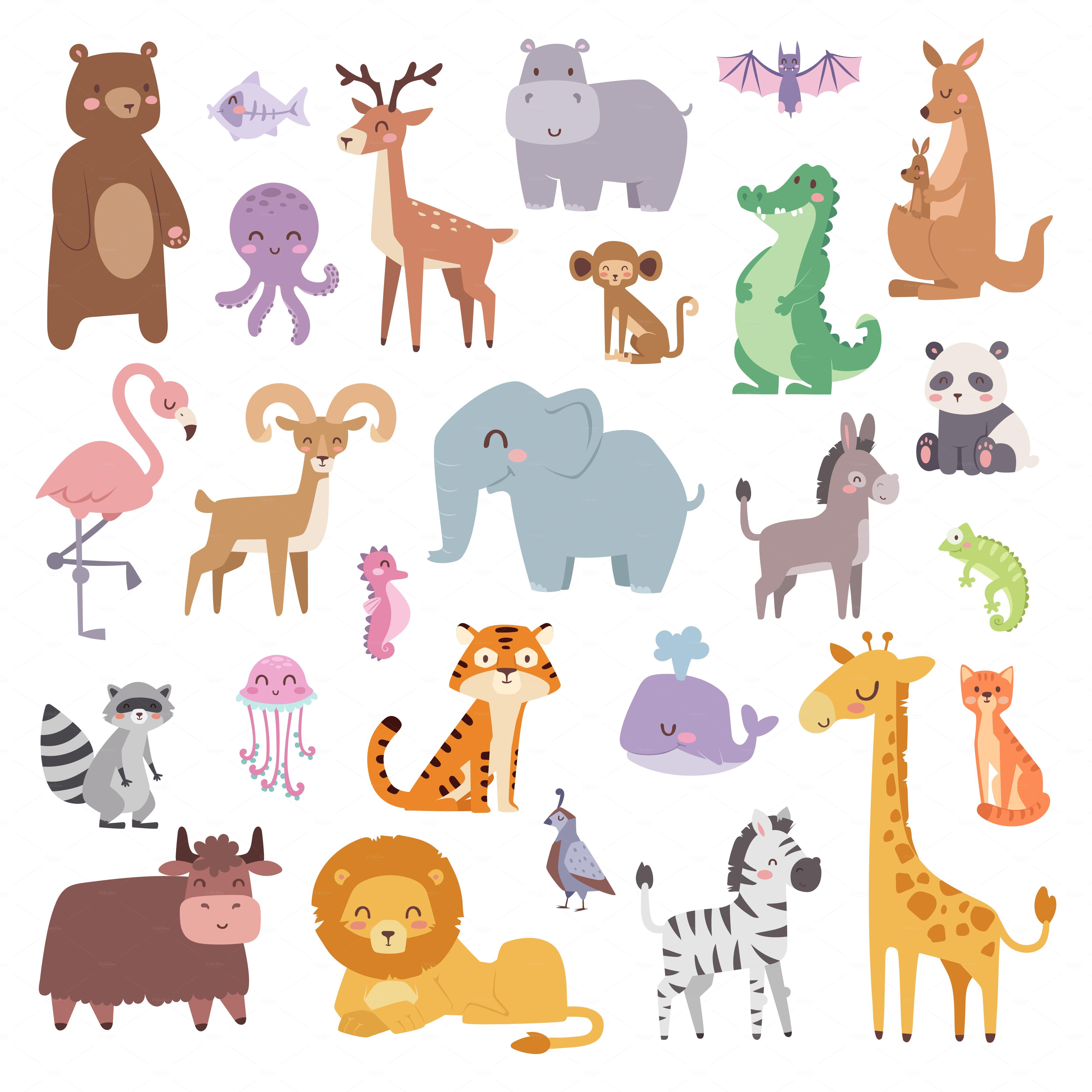 cartoon animals character vector by vectorstockstoker on. Black Bedroom Furniture Sets. Home Design Ideas