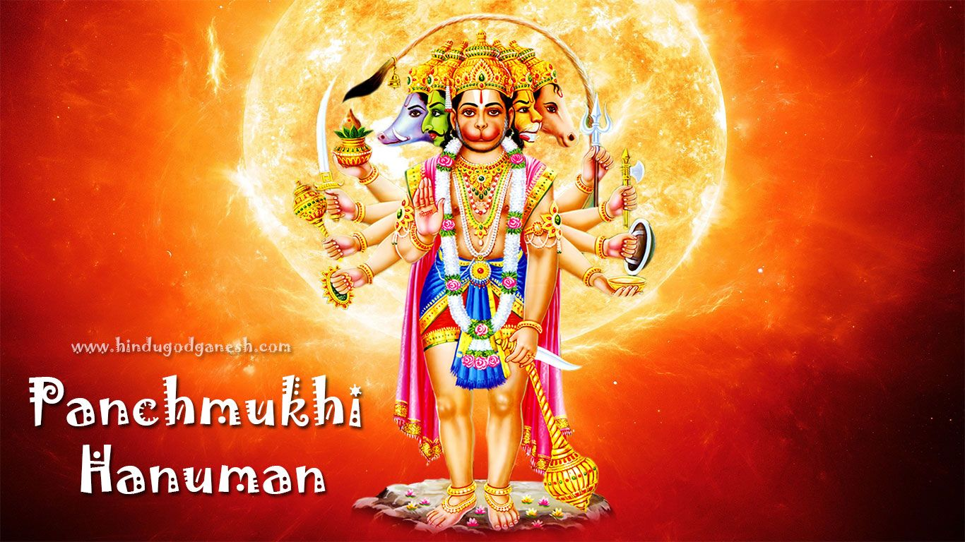 Panchmukhi Hanuman Wallpaper Full Size Free Download From Our Collection Of Images To Adorn Your Desktop Laptop And Mobile Bg Screen