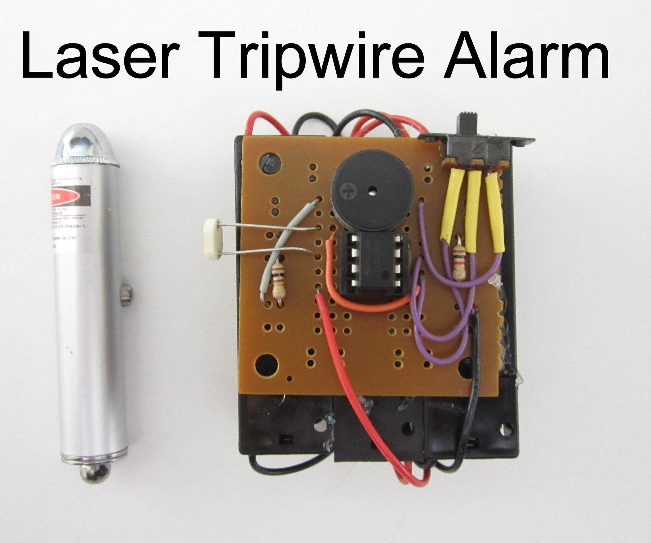 Laser Tripwire Alarm Laser Tripwire Diy Security Electronics Projects Diy