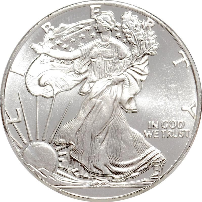 1 10 Oz 999 Fine Silver Rounds Silver Eagle Silver Bullion Coins American Silver Eagle Silver Bullion