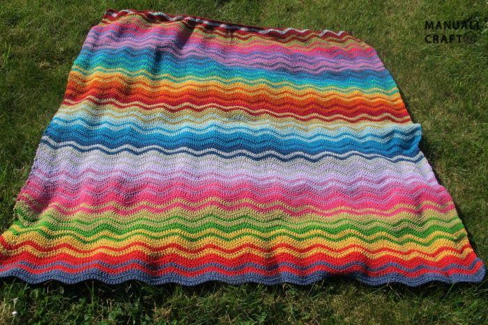 Manta arco iris a crochet | Manualicraft - Amigurumi, scrap y ...