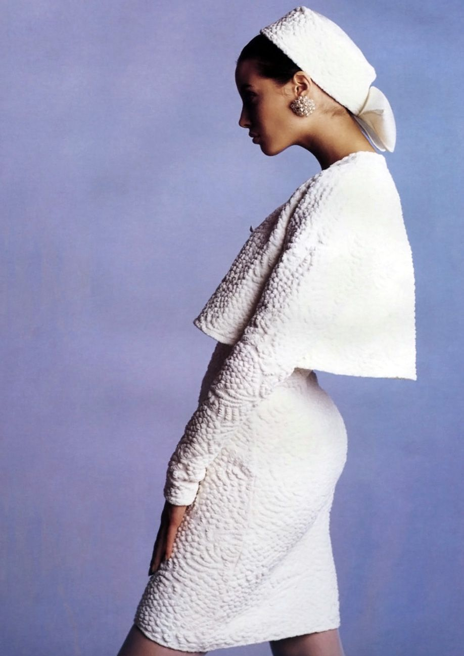 Christy Turlington in Missoni, 1988. Photo: Giovanni Gastel for Donna Italia ('Freschi di Stampa'), February 1988.