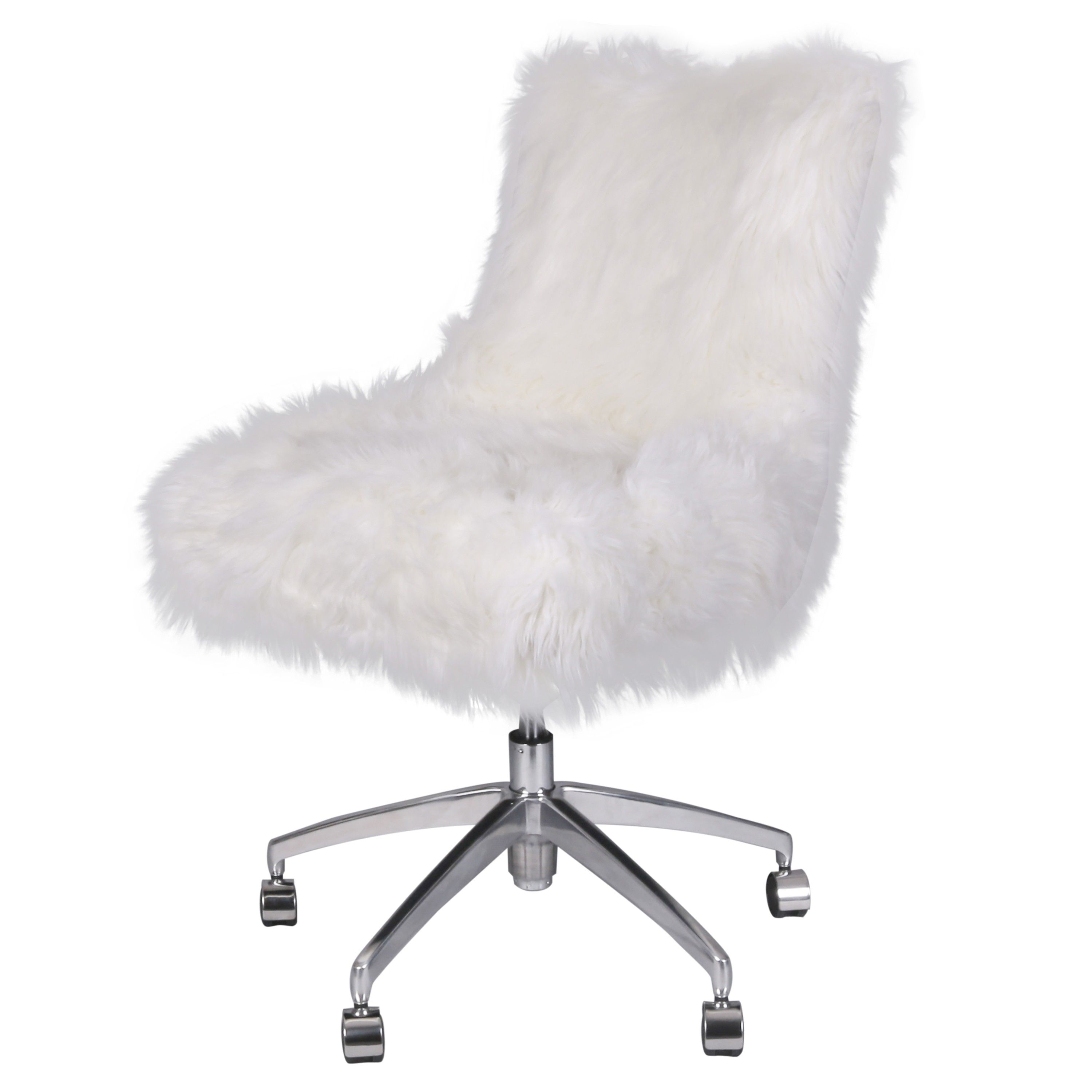 Rhona Faux Fur Office Chair Desk Chair Cool Chairs Mesh Office