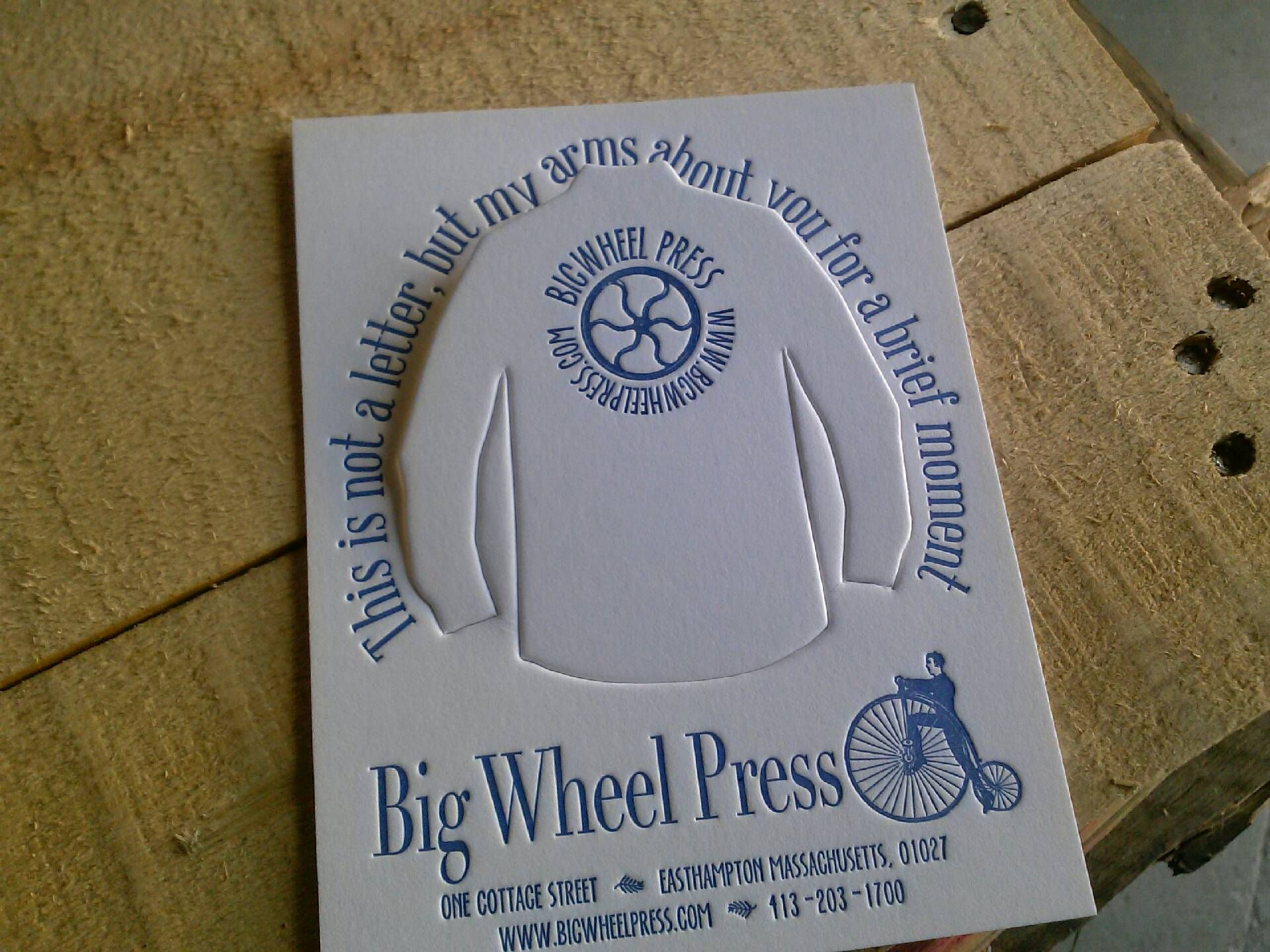 Big Wheel Press giveaway at NSS 2015.  You don't really want to punch it out.