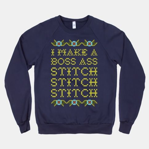 I Make A Boss Ass Stitch #crossstitch #sweatshirt #sweater #giftideas #mothersday