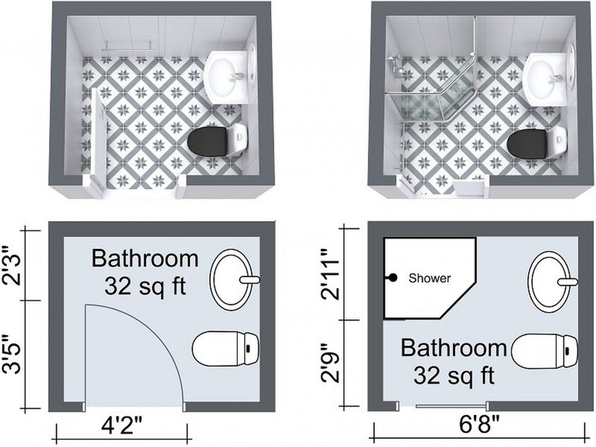 Best Information About Bathroom Size And Space Arrangement Engineering Discoveries Small Bathroom Floor Plans Bathroom Floor Plans Small Bathroom