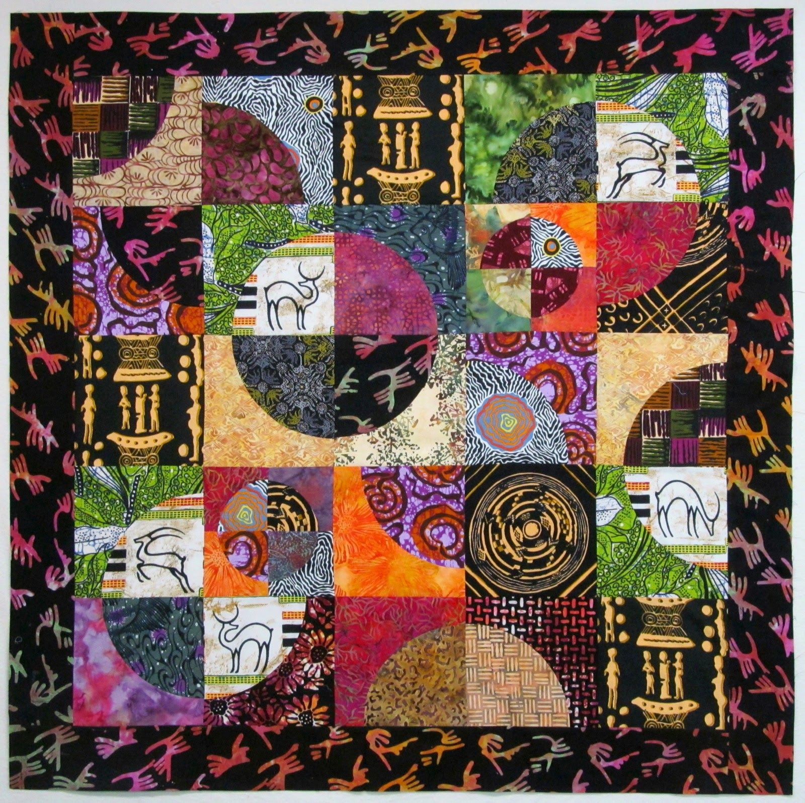 Drunkard S Path Top And African Fabric Quilts Collage