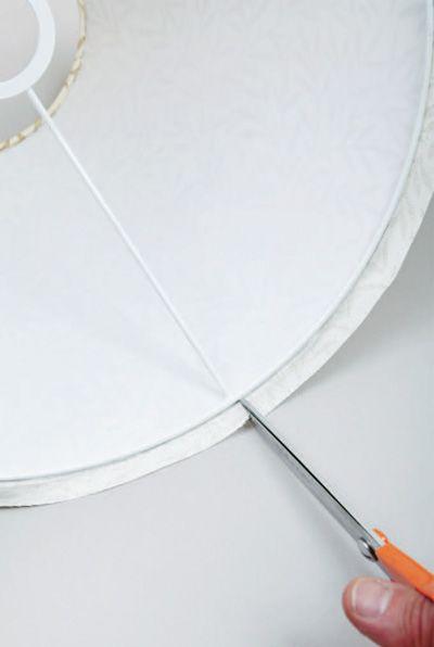 abat jour conique bord roul tuto pour faire loisirs cr atifs abats jour lampshades. Black Bedroom Furniture Sets. Home Design Ideas