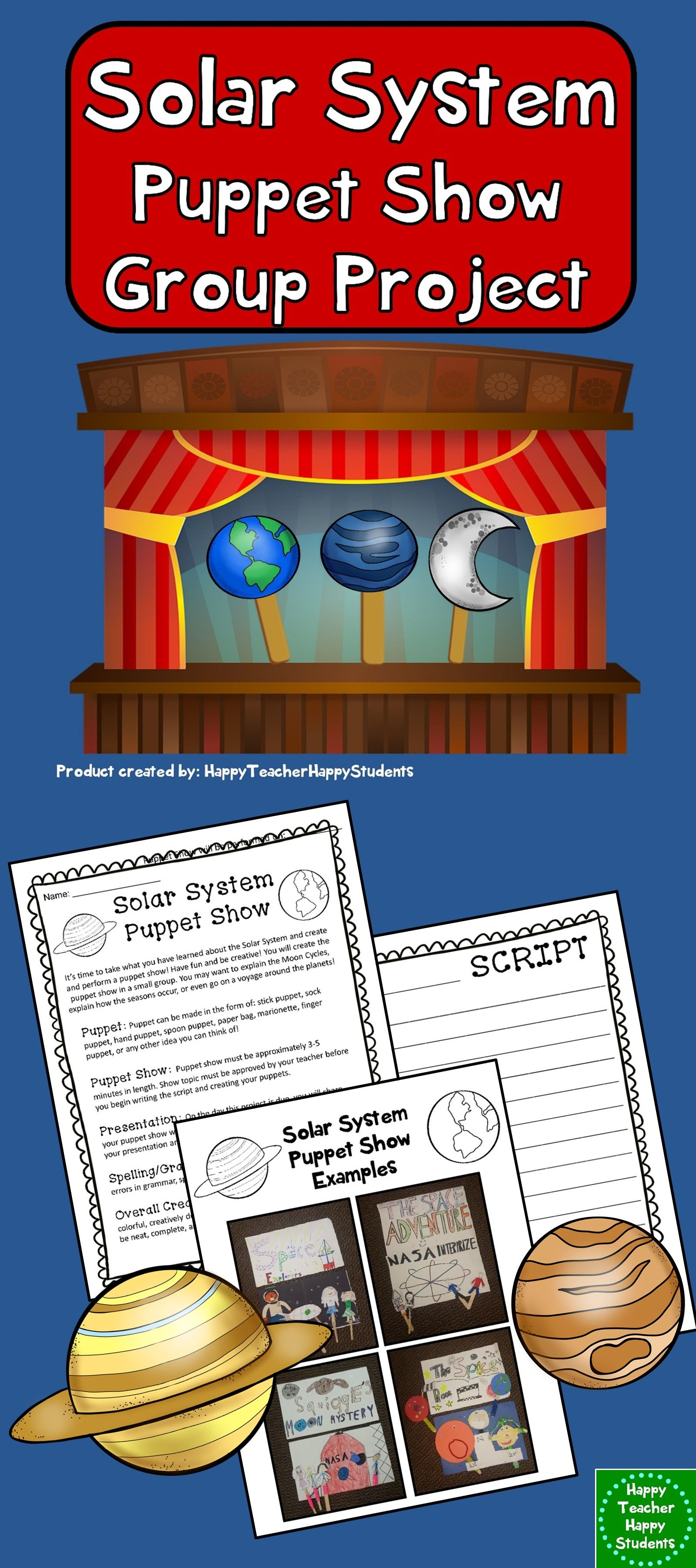 Solar System Project Create A Puppet Show Activity