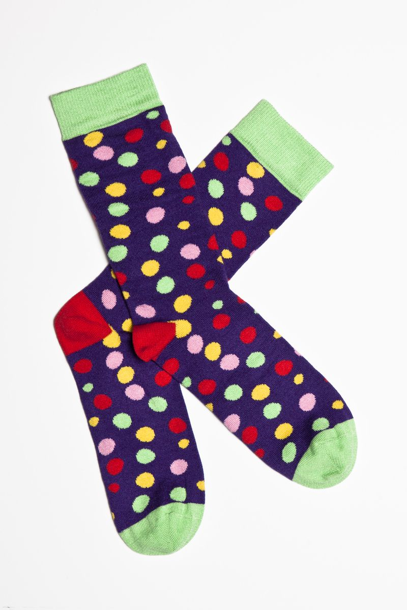 Seriously Silly Socks - Women's smartie socks by Doris and Dude. Made from bamboo, £5.50 (http://www.seriouslysillysocks.com/womens-smartie-socks-by-doris-and-dude-made-from-bamboo/)