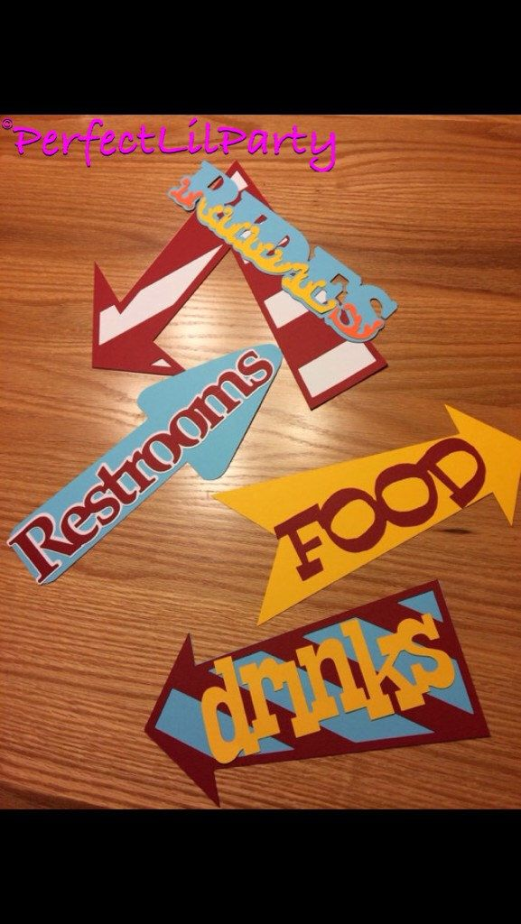 Carnival Signs by PerfectLilParty on Etsy https://www.etsy.com/listing/236683920/carnival-signs