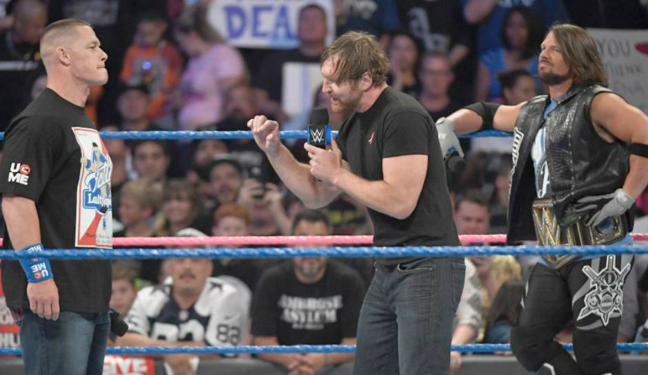 Wwe Smackdown Live Results Dean Ambrose Stands Tall Before No Mercy Match With John Cena Aj Styles John Cena Dean Ambrose Aj Styles