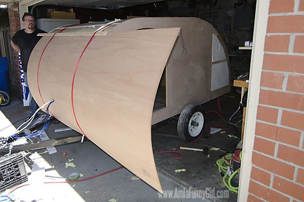 Homebuilt Teardrop Trailer 6: Exterior Wood Skin & Sealant | Tear