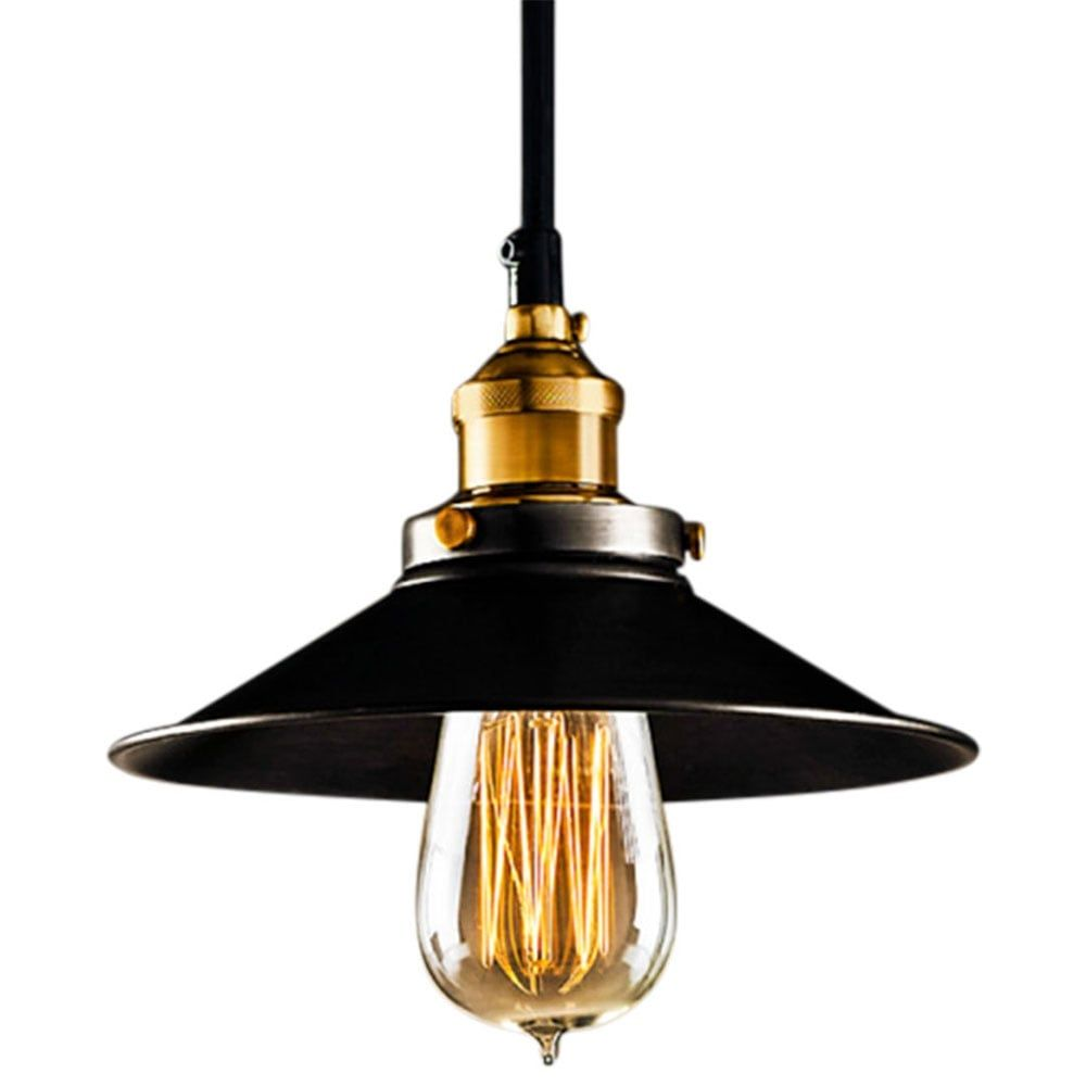 Edison industrial black metal pendant light black metal pendant
