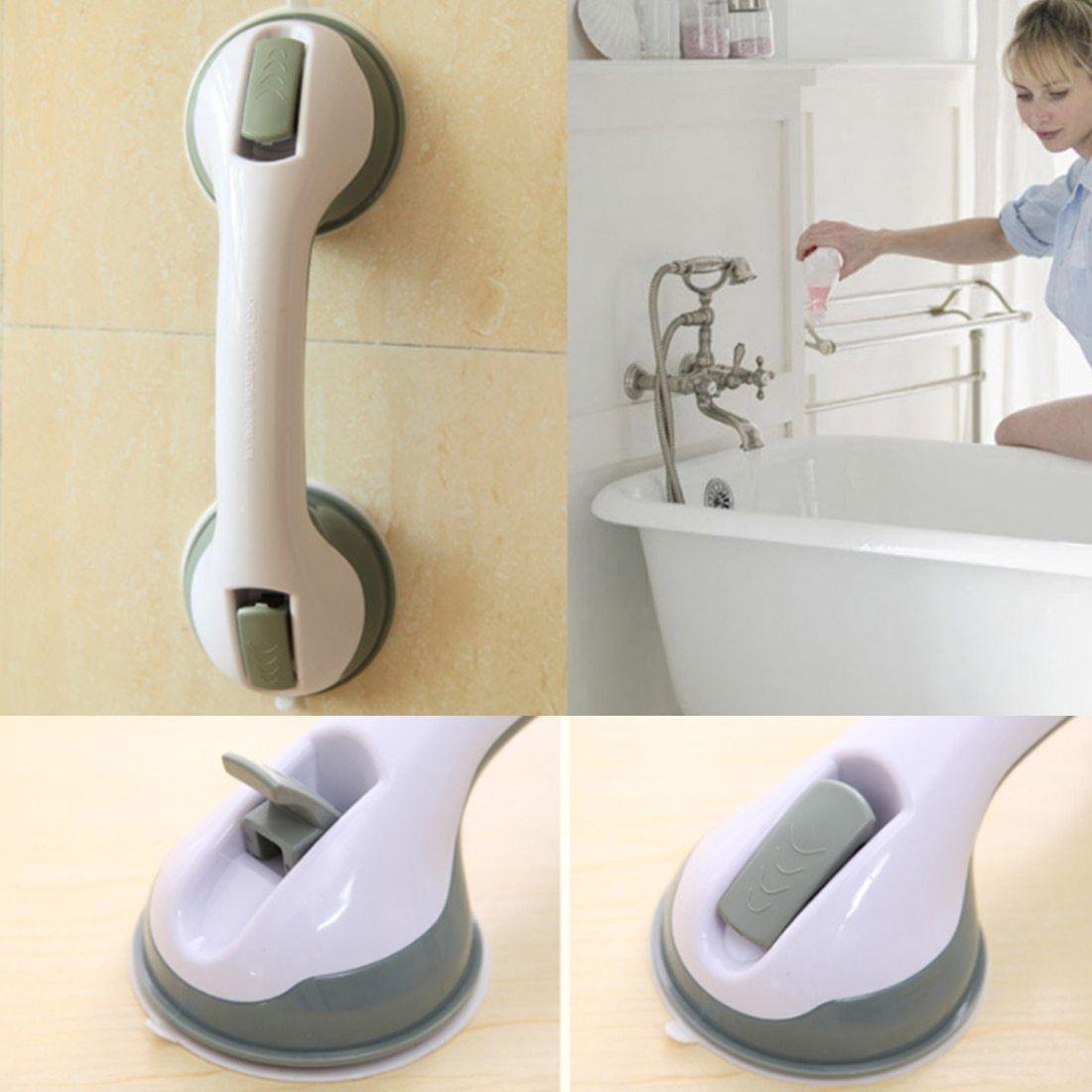 Anti slip shower grip grab bars in bathroom shower tub